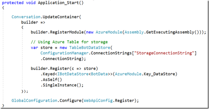 Managing Concurrency in Bot Framework and Azure Table