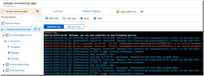 Azure Functions – Real-Time Monitoring – Des Flanagan
